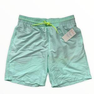 Old Navy Men's Swim Trunks Swimsuit Aqua Blue Green New Medium